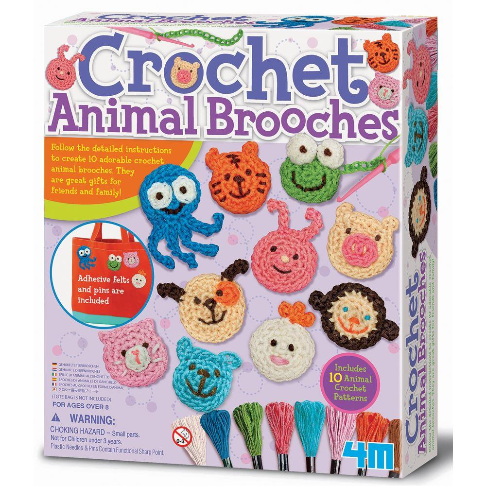 4M Craft - Crochet Animal Brooches