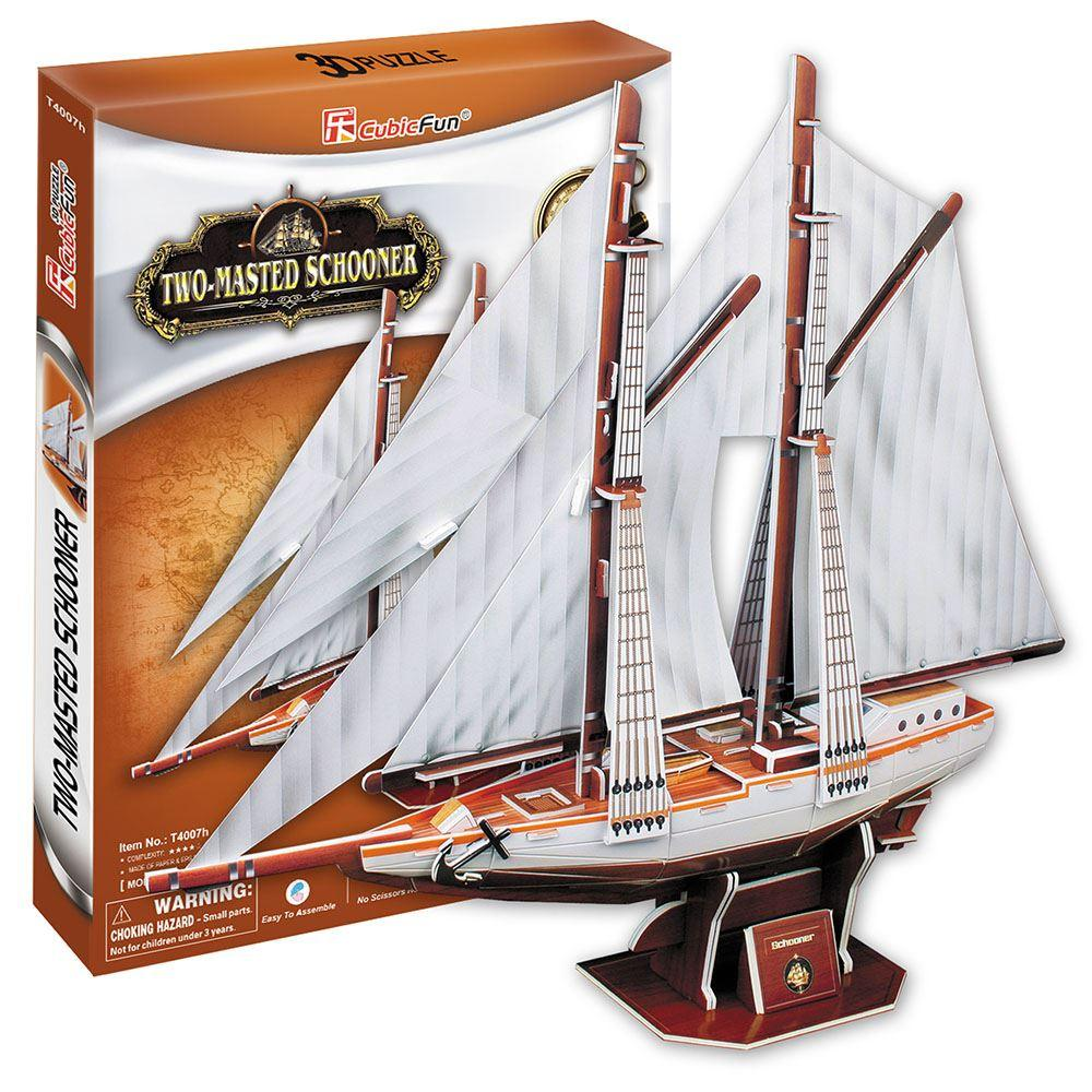 3D Puzzle Two Masted Schooner