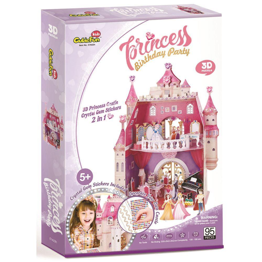 3D Puzzle - Birthday Party Castle