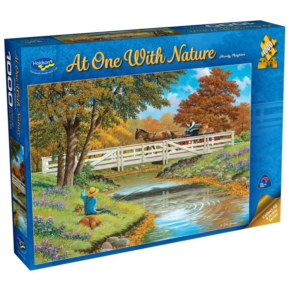 Holdson Puzzle - At One With Nature 1000 piece Howdy Neighbour