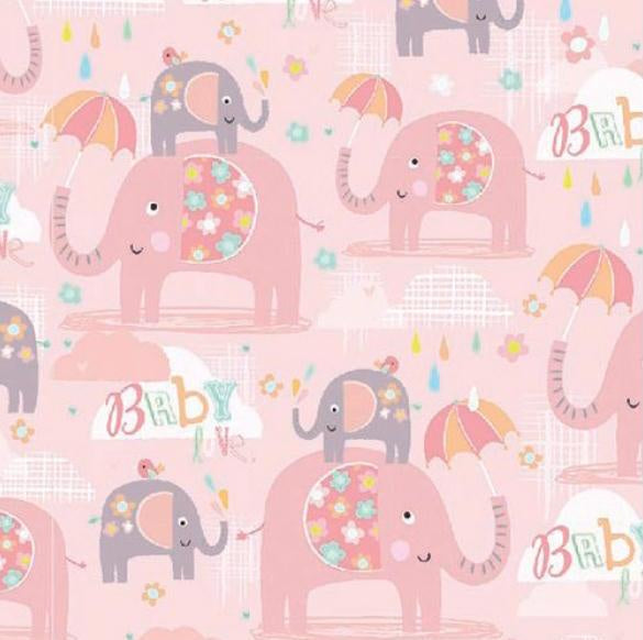 Baby Girl Elephant Folded Wrap WEW452