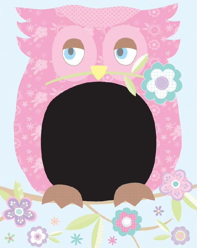 Wall Sticker Blackboard Owl