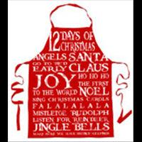 Apron Xmas Sayings Vintage Red 80cm