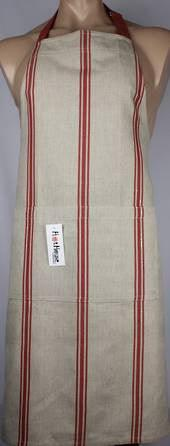 Apron Marseille Linen Red