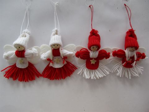 Excelong - Make Your Own Red White Felt Girls - Christmas Decoration