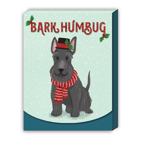 Molly & Rex - Bark Humbug - Christmas Notepad