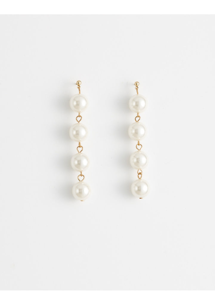 Damsel Earring 4 Drop Pearls