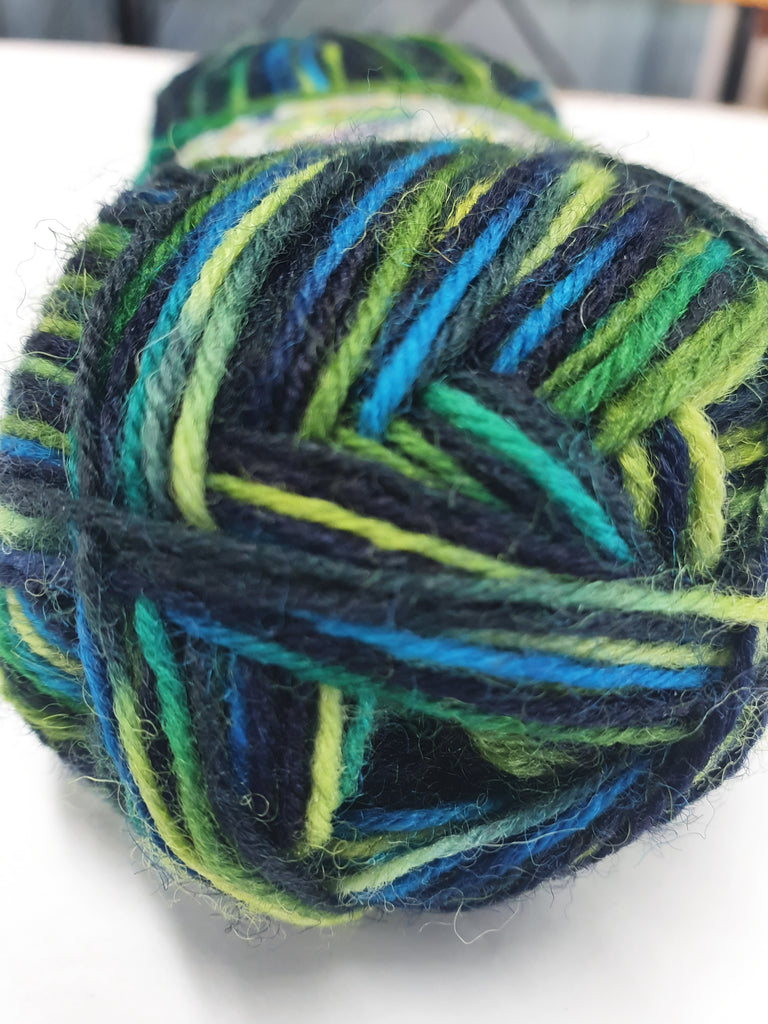 Happy Feet 4ply Sock 50g - Multi Greens