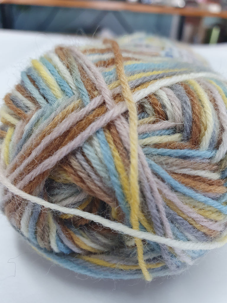Happy Feet 4ply Sock 50g - Multi Grey Yellows