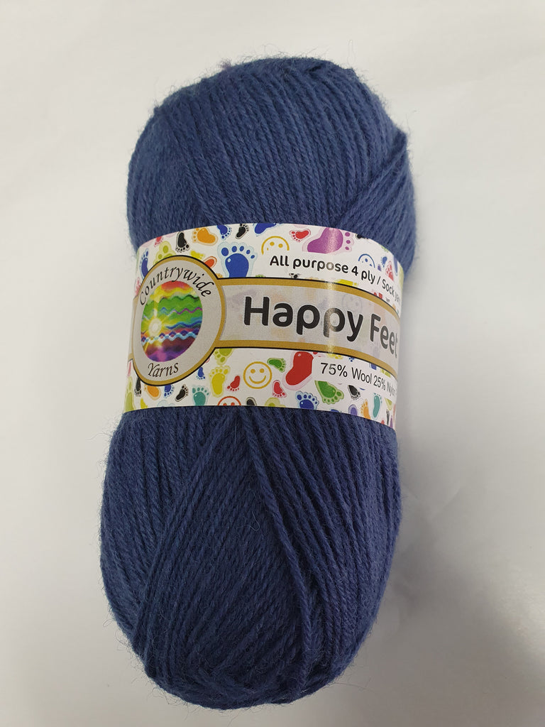 Happy Feet 4ply Sock 50g - Steel Blue