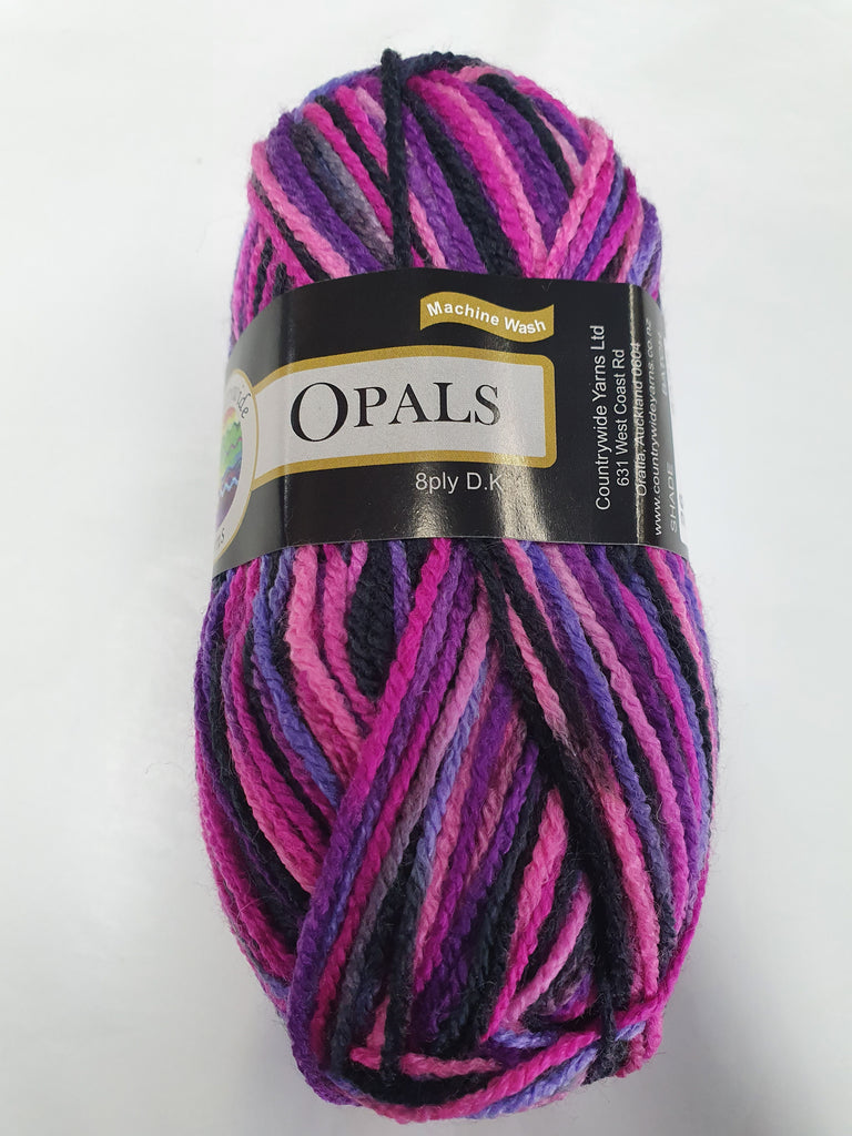 Opals Multi Super Soft 8 ply 50g - Purple Pinks