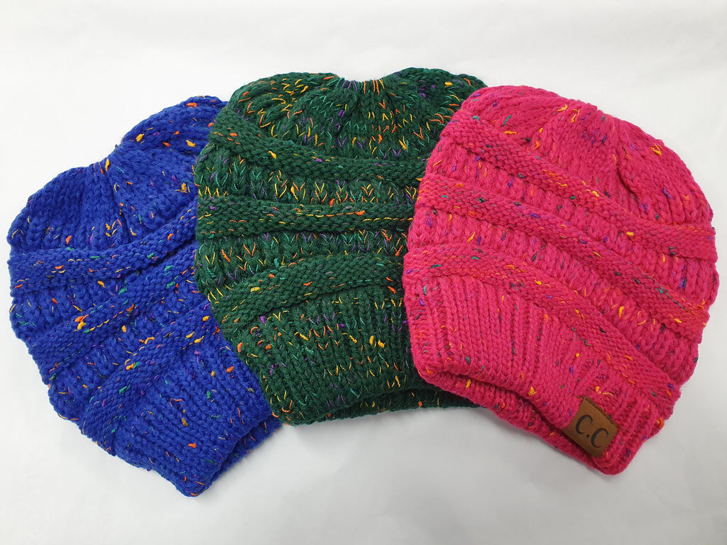 Speckled Ponytail Beanie