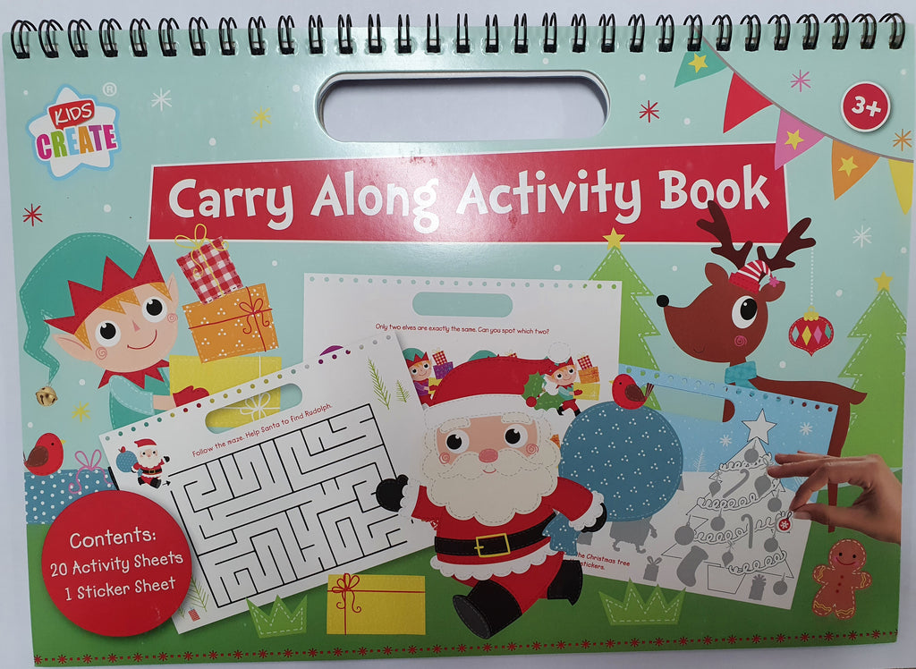 Christmas Carry Along Activity Book