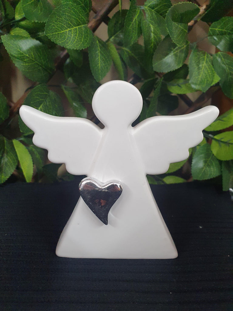 Angel - White with Silver Heart 110mm