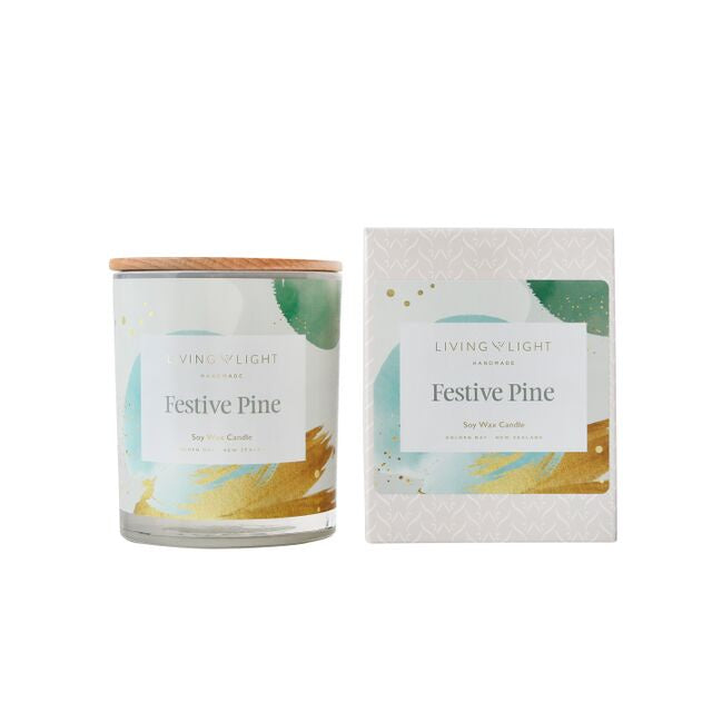 Living Light Festive Pine Candle