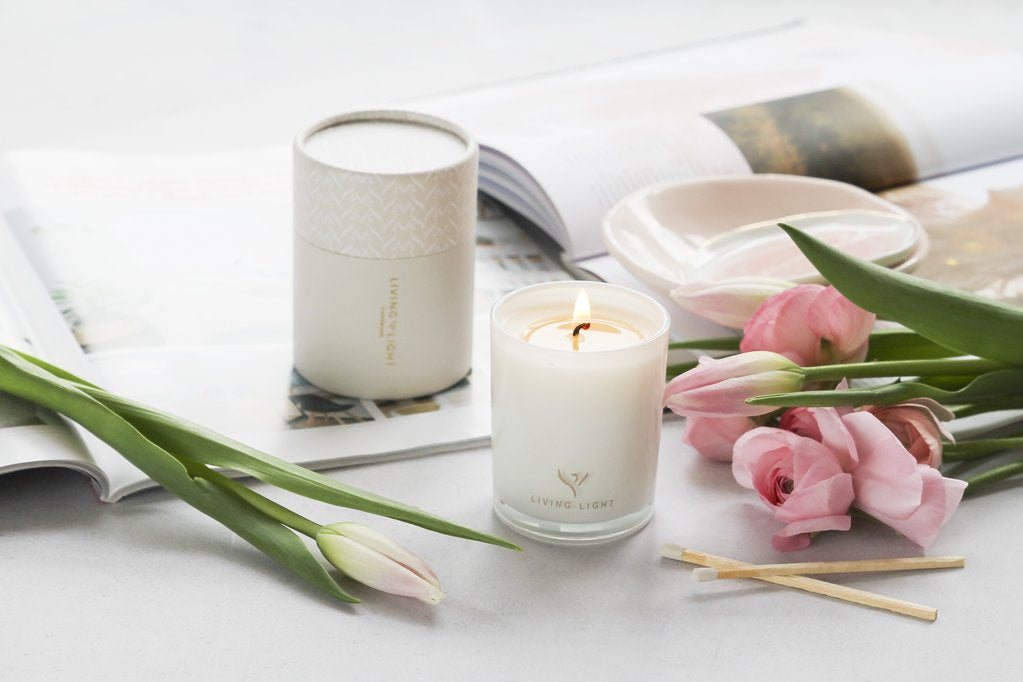 Living Light Dream Soy Candle Mini - Lychee & Mandarin
