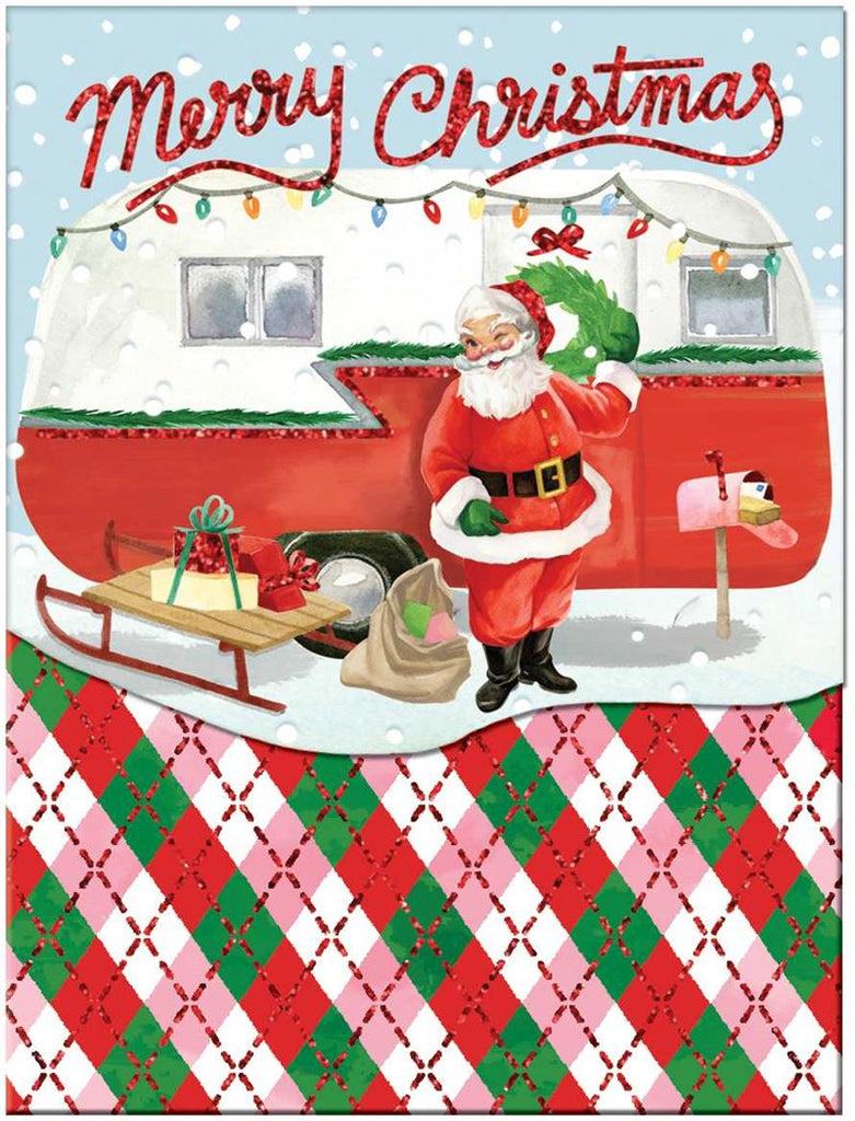Molly & Rex - Santa & Caravan - Christmas Notepad