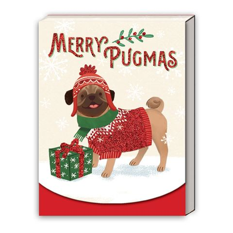 Molly & Rex - Merry Pugmas - Christmas Notepad