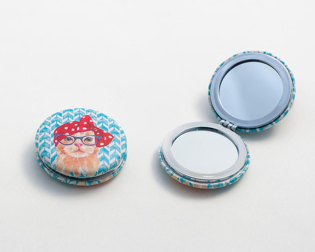 Blue Cat Compact Mirror