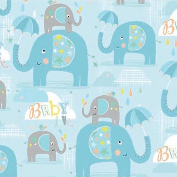 Baby Boy Elephant Folded  Wrap WEW451