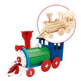 Painting 3D Wooden Puzzle - Locomotive