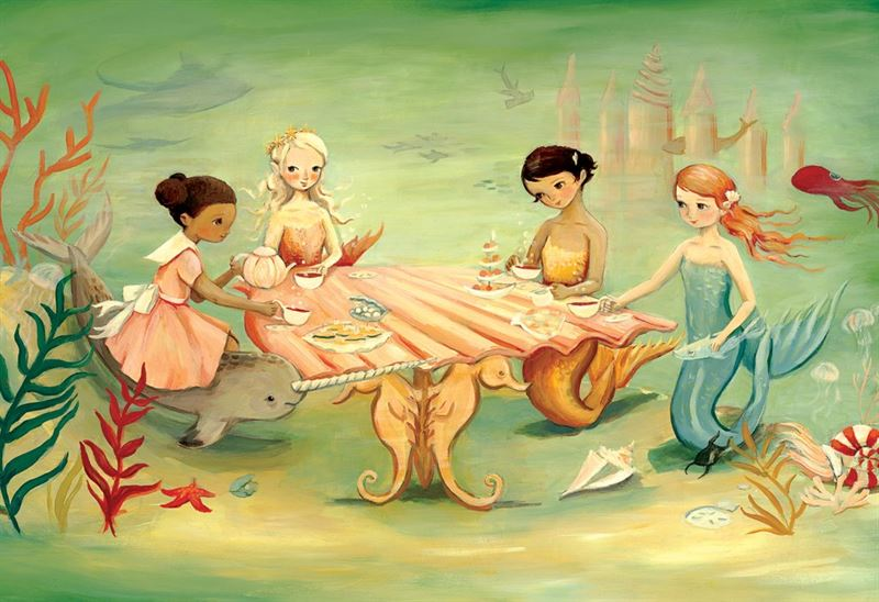 New York Puzzle Company - Mermaid Tea Party - 60 Pce Puzzle