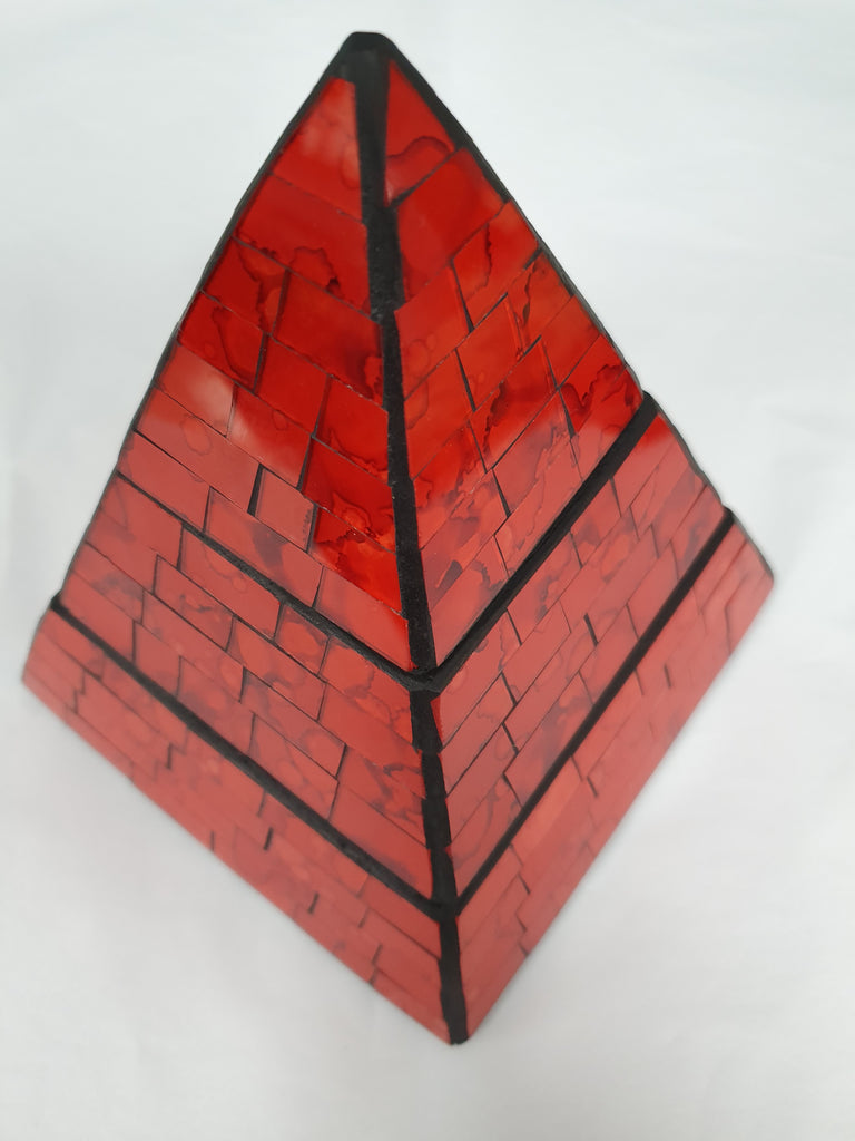 Red Pyramid Jewellery Box
