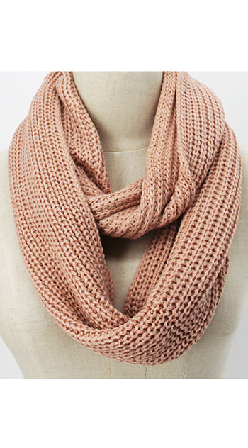 Winter Infinity Scarf Pale Pink
