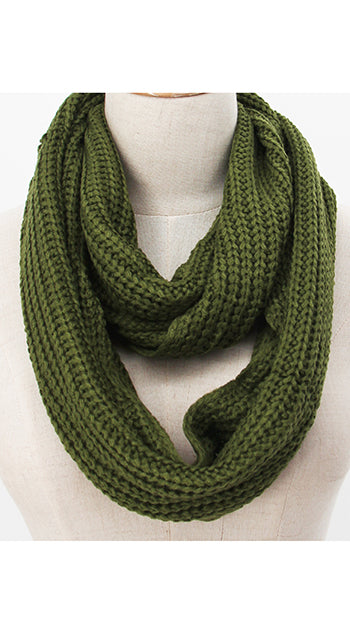 Winter Infinity Scarf Olive