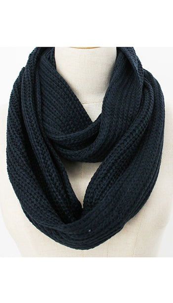 Winter Infinity Scarf Navy