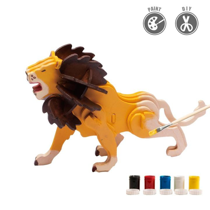Painting 3D Wooden Puzzle - Lion