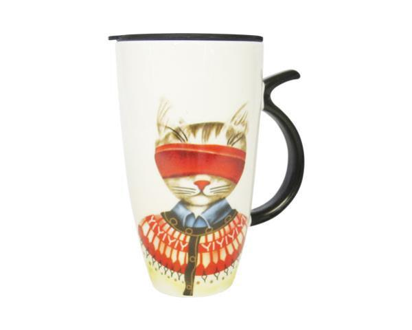 Art Cat Mug Red