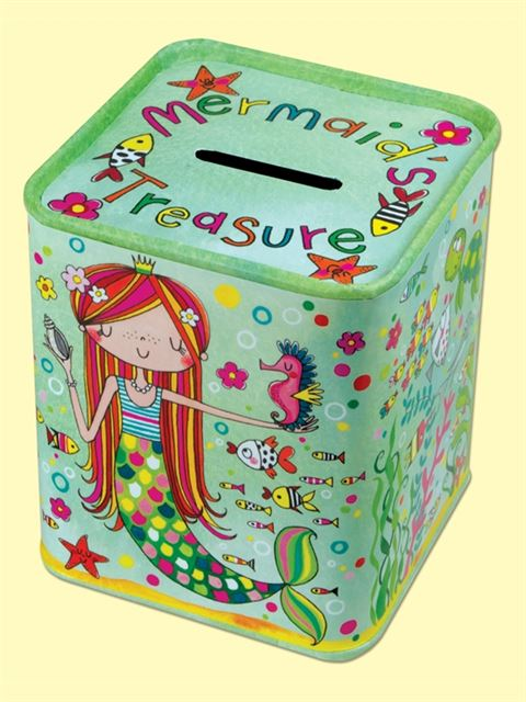 Mermaid's Treasure Money Box Tin