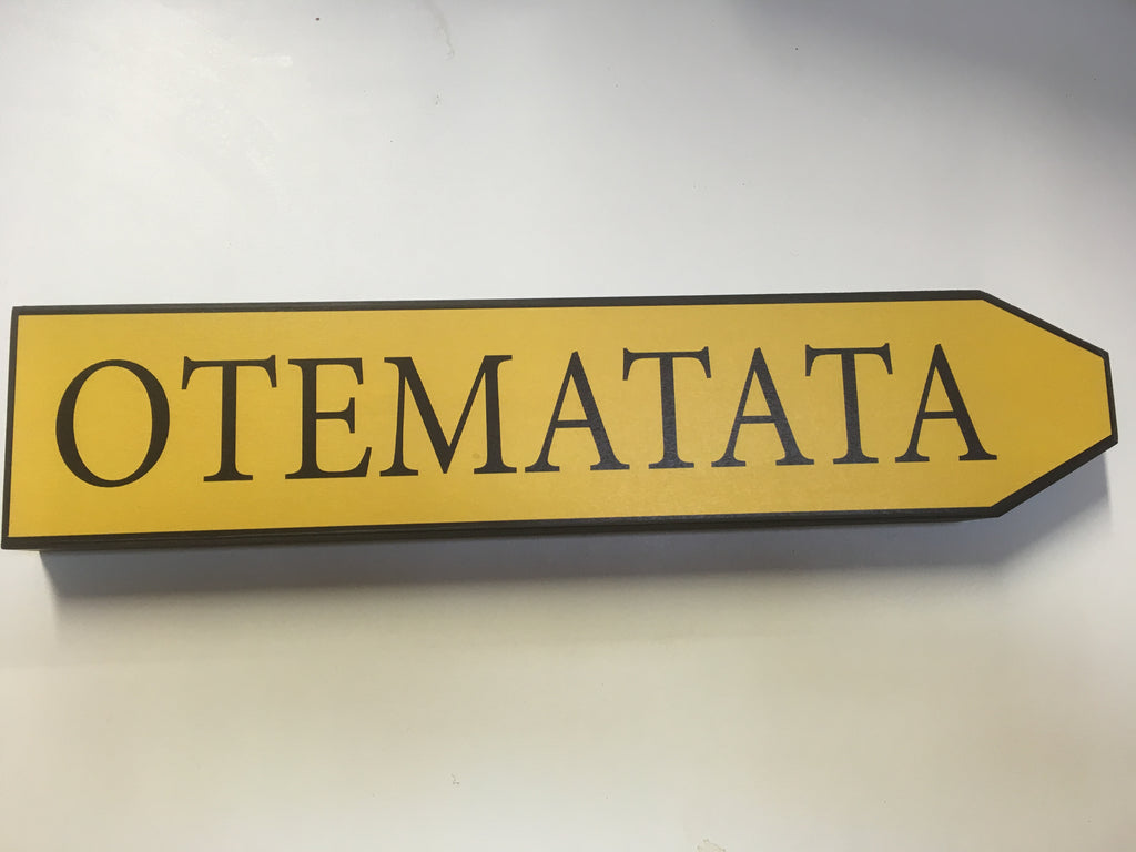 Place Name Road Sign - Otematata