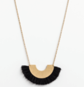 Damsel Necklace Arc Cotton black/gold