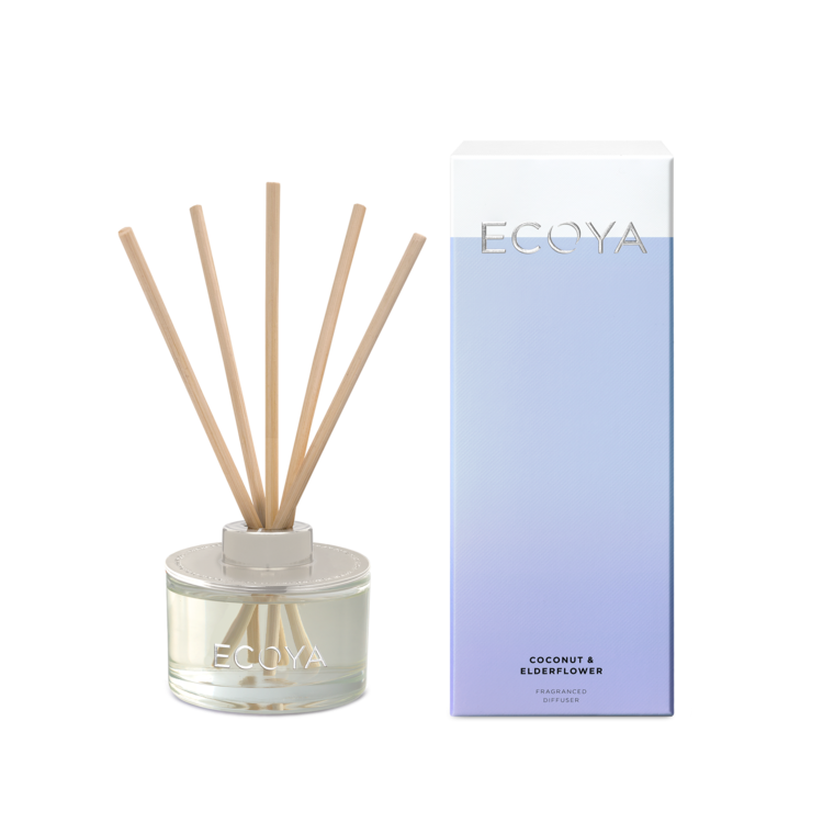 Ecoya Mini Reed Diffuser - Coconut & Elderflower