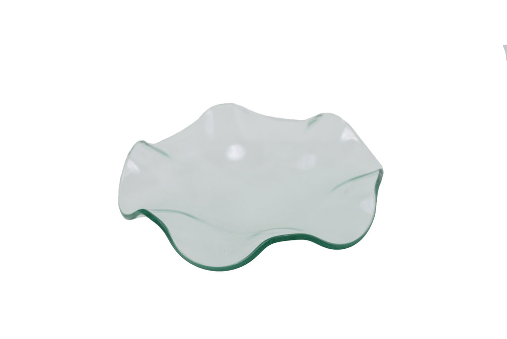 Electric Touch Warmer Glass Dish - Wavy