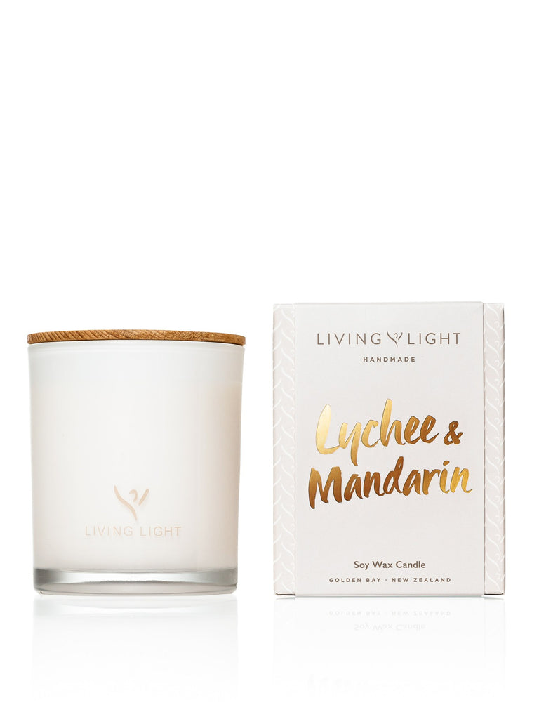 Living Light Dream Soy Candle 65hrs - Lychee & Mandarin