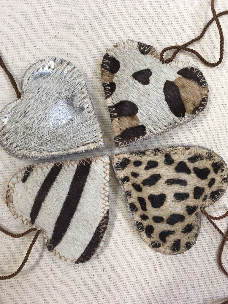 RECYCLED SUEDE HEARTS SMALL