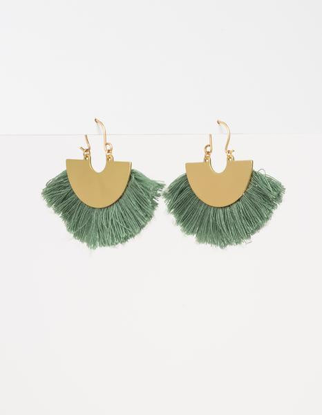 Damsel Earring Tassle Fan