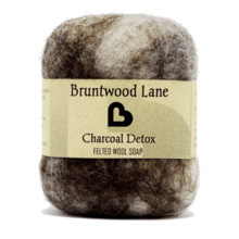Bruntwood Lane Felted Soap Charcoal Detox