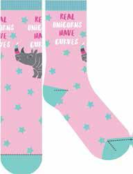 Frankly Funny Socks Curve Unicorn