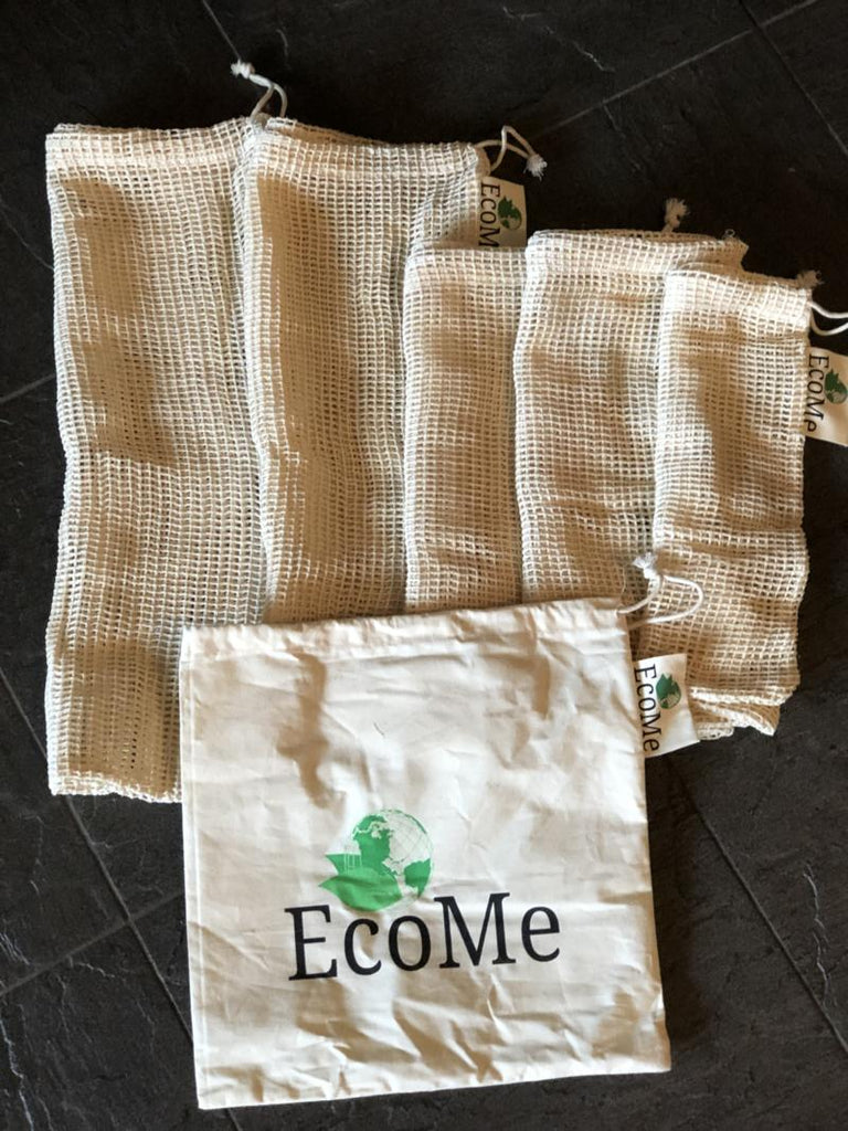 Organic Cotton Produce Bags - 6 pack