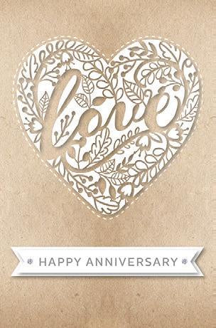 Card Anniv Your Laser Cut Heart