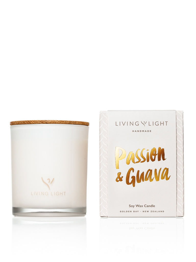 Living Light Dream Soy Candle 65hrs - Passion & Guava
