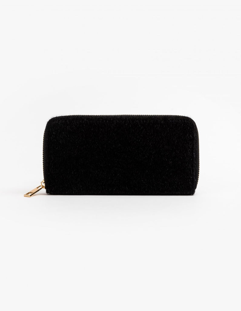 Stella & Gemma Wallet Black Fur