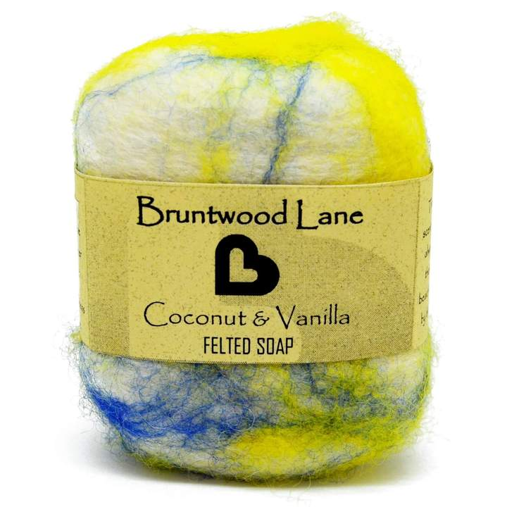 Bruntwood Lane Felted Soap Coconut & Vanilla