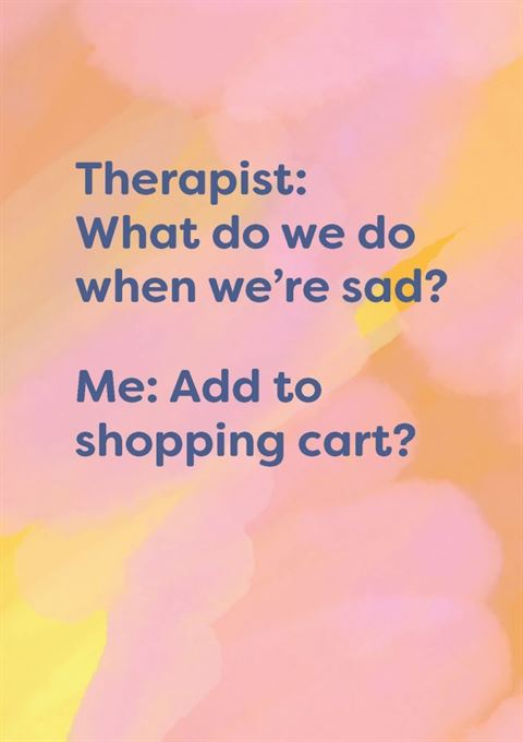 Cath Tate - Add to Shopping Cart - Humour Card