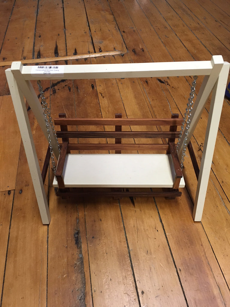 Handcrafted Wooden Swing Double