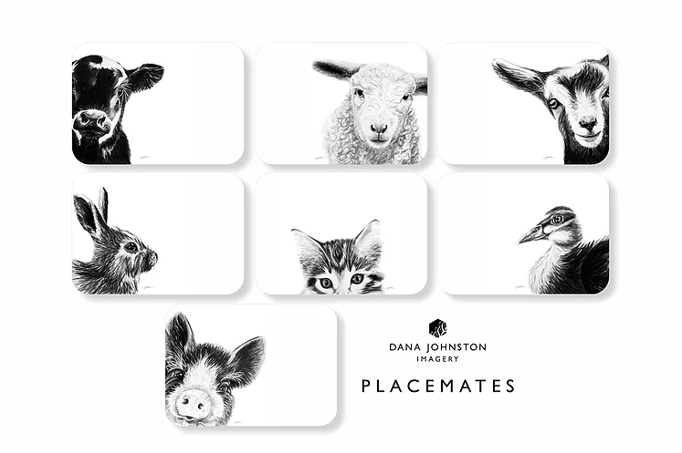 Dana Johnston Innocence Collection - Placemats